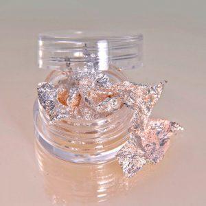 Nailart Flakes Echt Silber