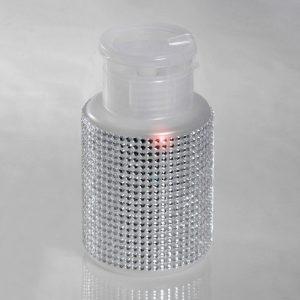 Pumpdispenser Kunststoff mit Strass Nagelkosmetikbedarf